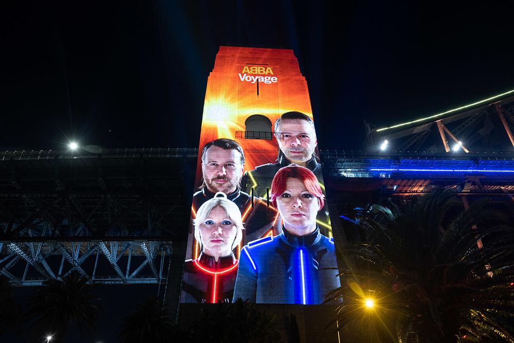 ABBA Launch New Album 'Voyage' Illuminating The Sydney Harbour Bridge