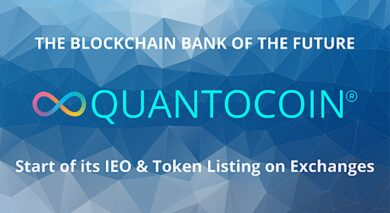 Blockchain Banking Platform Quantocoin Announces IEO and Utility Token Listing on Exchanges