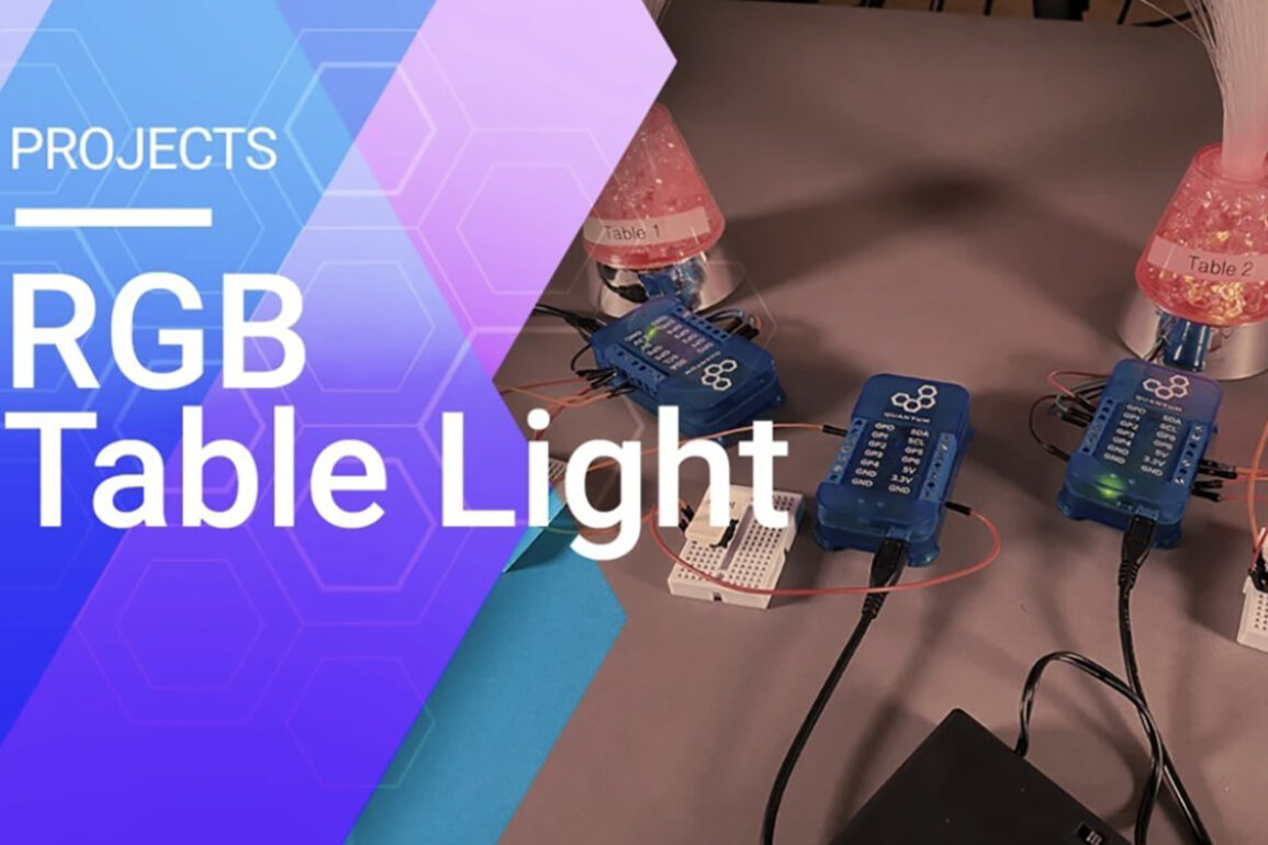 Quantum Integration's RGB Table Light Project Shows How Easily Ideas Can Be Brought to Life