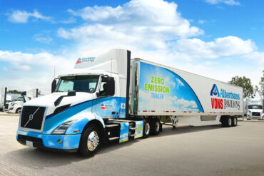 Volvo Trucks' Customer Albertsons Achieves Nation's First Commercial 100% Zero-Emission Refrigerated Grocery Delivery With a Class 8 Truck